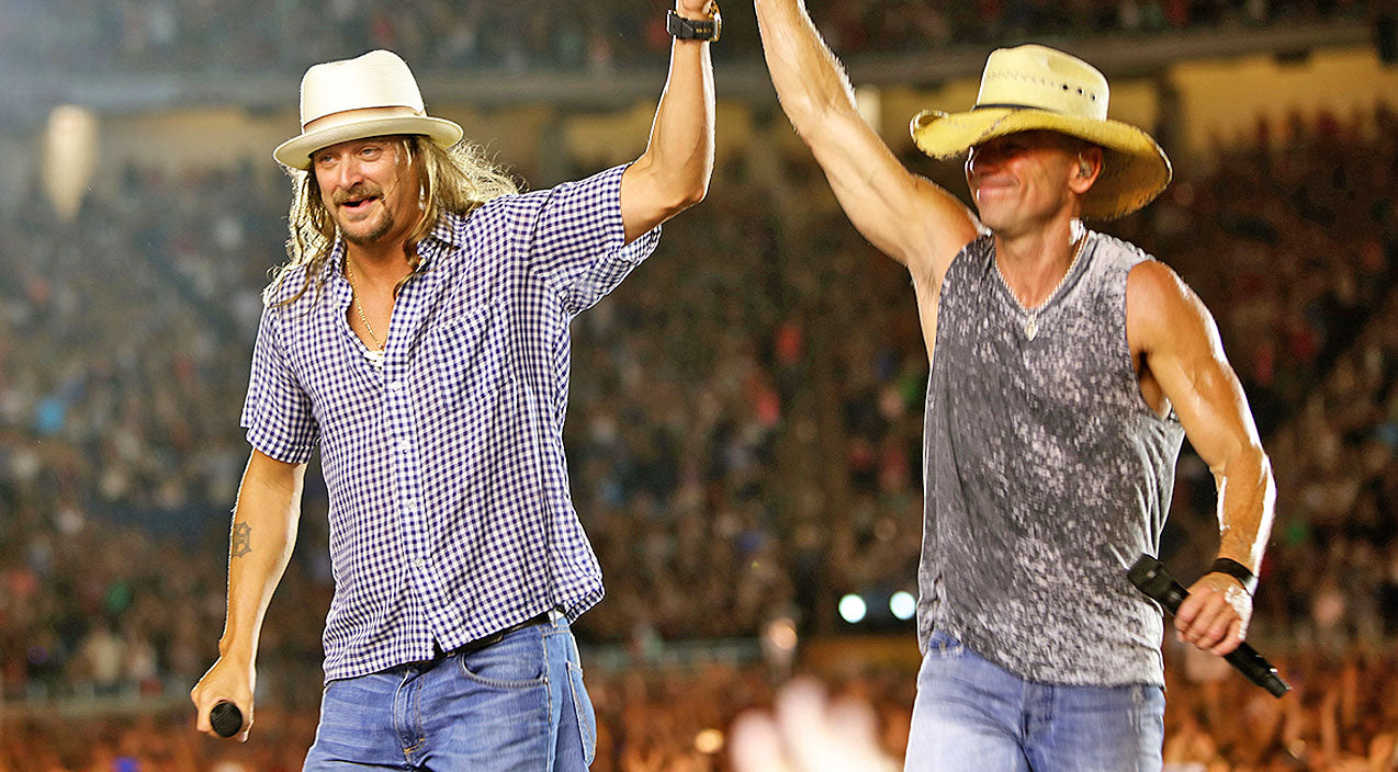 Kid rock Songs | Kid Rock Joins Kenny Chesney For Surprise Hometown Performance Of 'Cowboy' | Country Music Videos