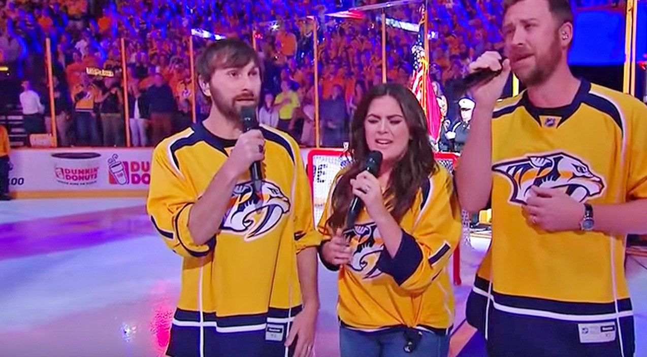 Lady antebellum Songs | Lady Antebellum Delivers Stunning A Cappella National Anthem At NHL Game | Country Music Videos