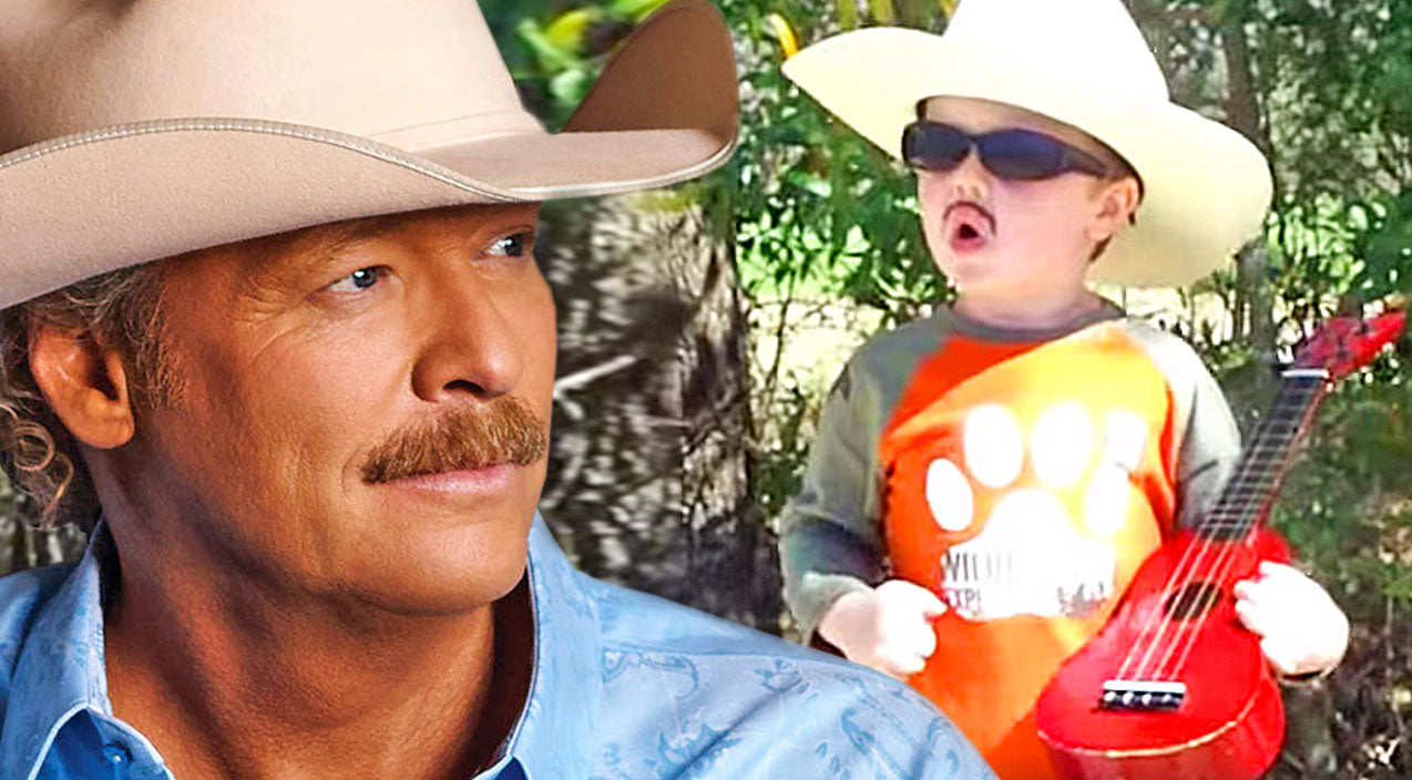 Alan jackson Songs | Alan Jackson's 'Mini Me' Proves He's A 'Country Boy', And It's Adorable | Country Music Videos