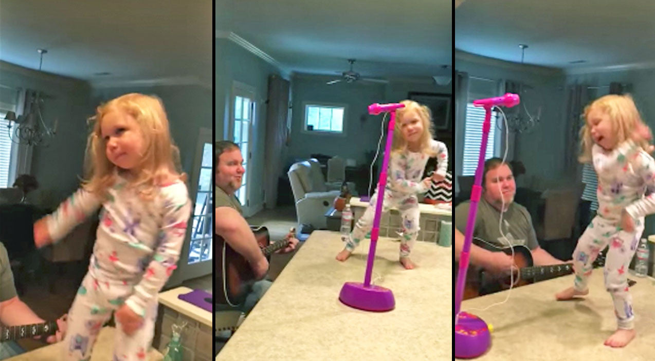 Hank williams jr. Songs | Little Girl Hears Her Daddy Playing Her Favorite Hank Jr. Song And Can't Help But Dance | Country Music Videos