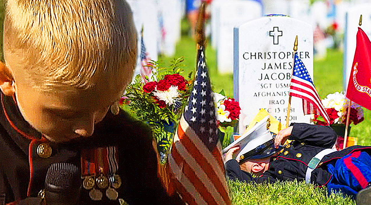 Military tribute Songs | A Little Boy Wears Dress Blues In Remembrance Of His Fallen Father (Heartwarming!) | Country Music Videos