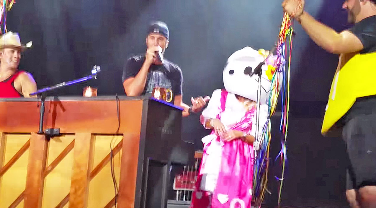 Luke bryan Songs | Y'all Will Never Guess Who Surprised Luke Bryan On Stage In A 'Hello Kitty' Costume (Funny!) | Country Music Videos
