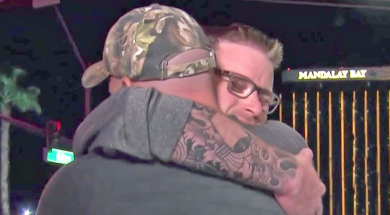 Las Vegas Shooting Victim Makes Emotional Reunion With Man Who Saved His Life | Country Music Videos