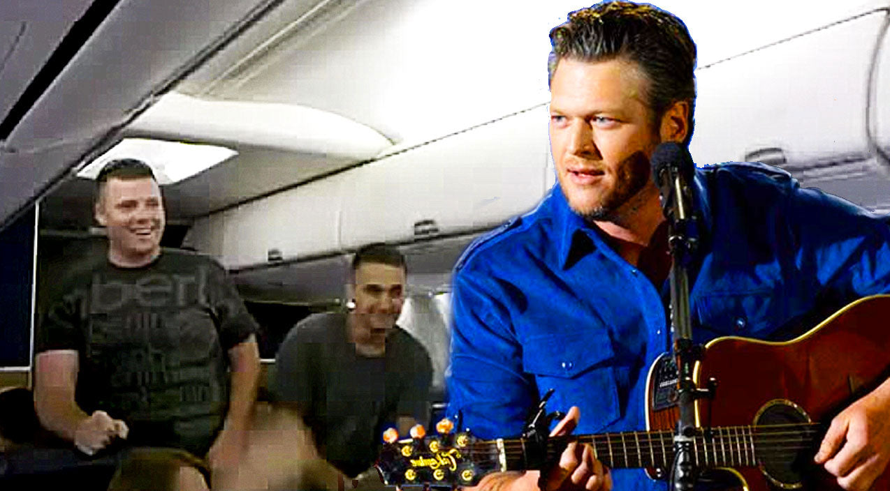 Blake shelton Songs | On Flight Home, U.S. Marine Surprises Passengers With Emotional Cover Of 'Home' | Country Music Videos