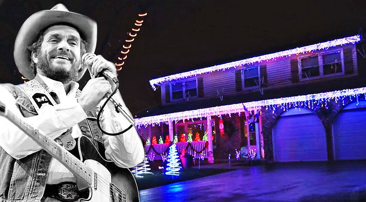 Merle haggard Songs | See Christmas Lights Dance In Sync To Merle Haggard's 'Santa Claus Is Coming To Town' | Country Music Videos
