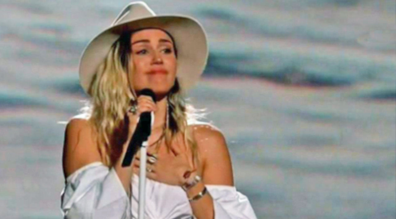 Miley cyrus Songs   Miley Cyrus Gets Emotional Performing 'Malibu' On TV For The First Time   Country Music Videos