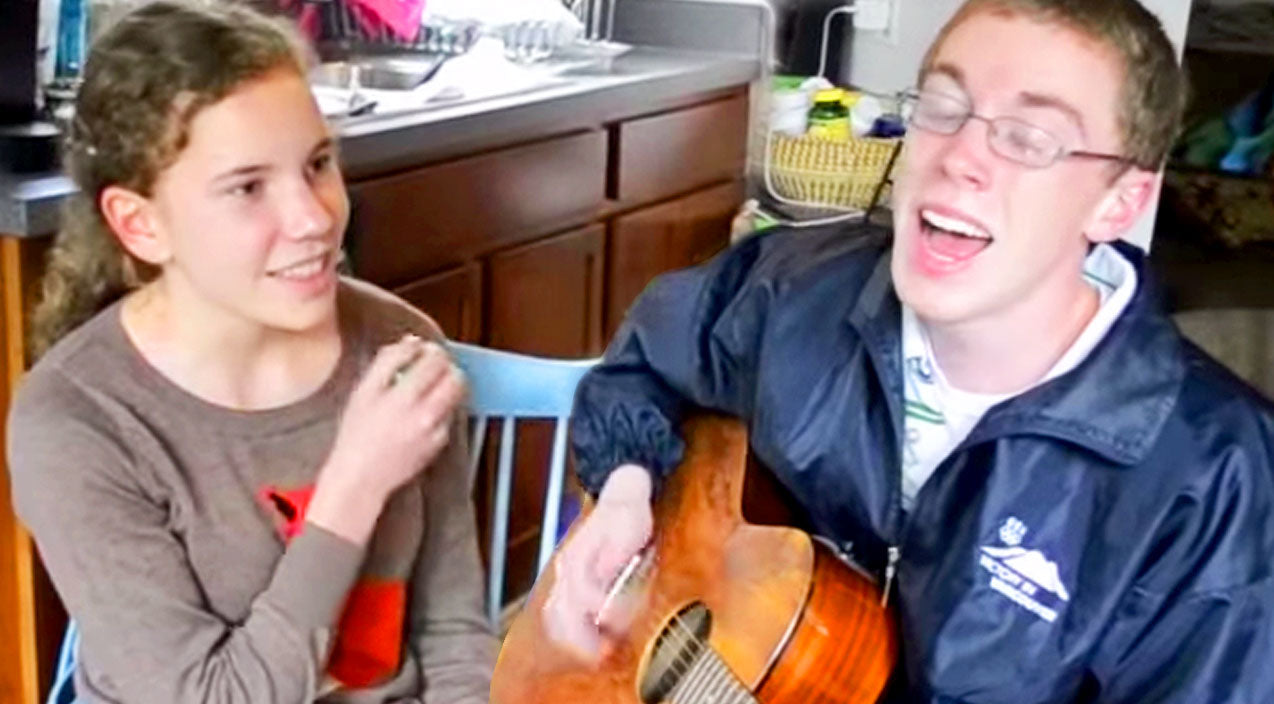 Mom Films Shy Kids Singing... And You Won't Believe This!   Country Music Videos