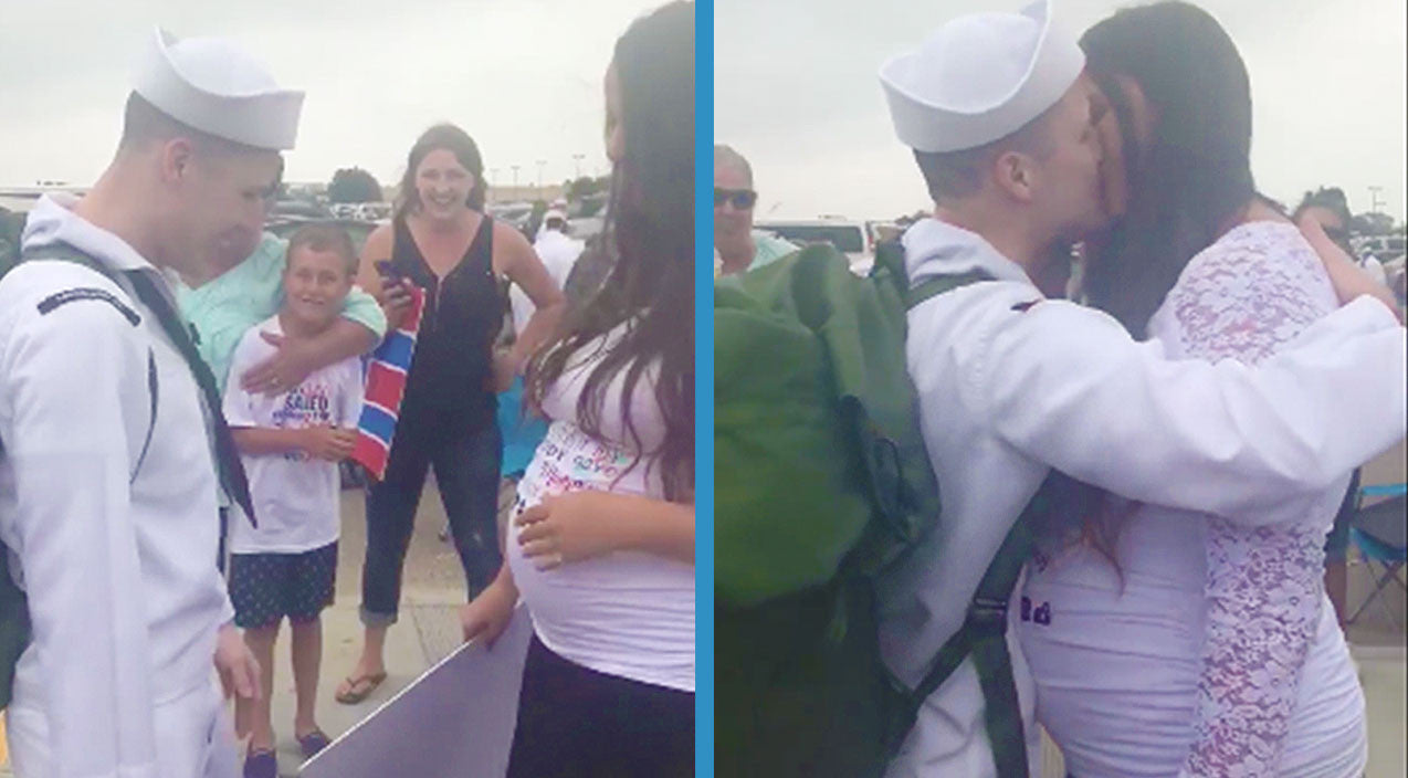 Viral content Songs | Navy Wife Surprises Husband Returning From Deployment With Emotional Pregnancy Reveal | Country Music Videos