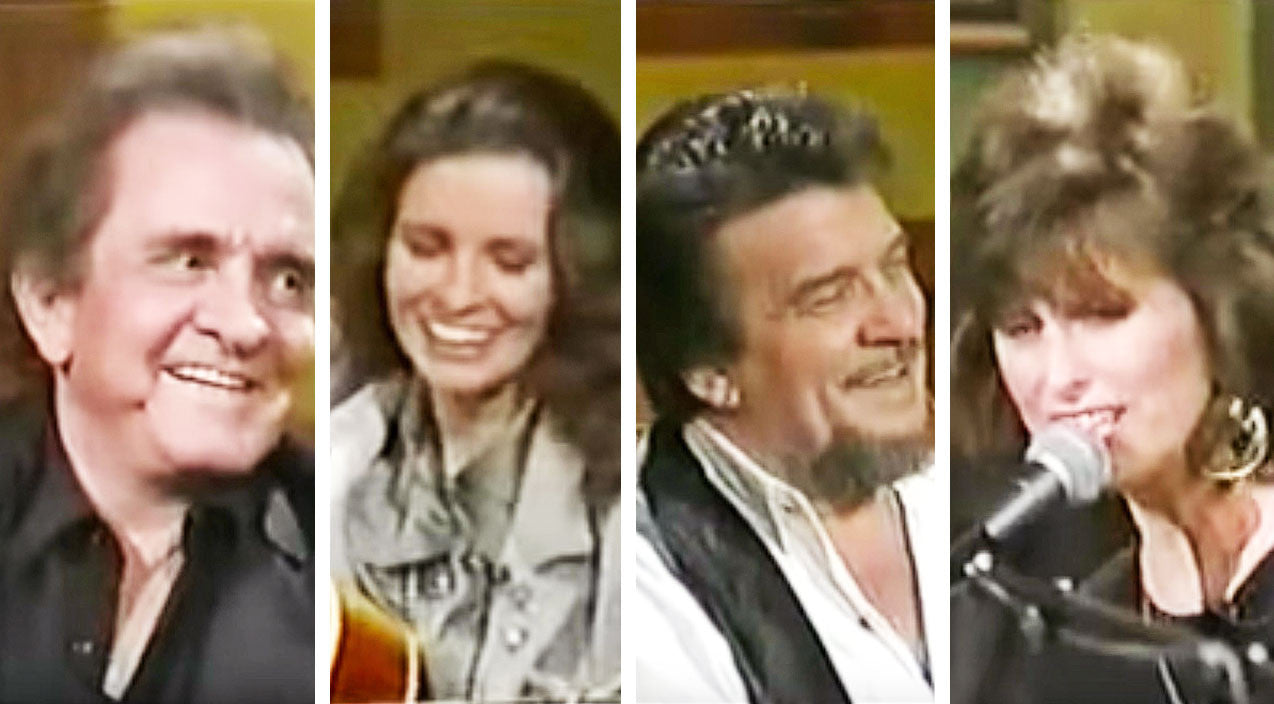 Waylon jennings Songs | Johnny Cash & Waylon Jennings Can't Stop Smiling While Wives Serenade Them | Country Music Videos