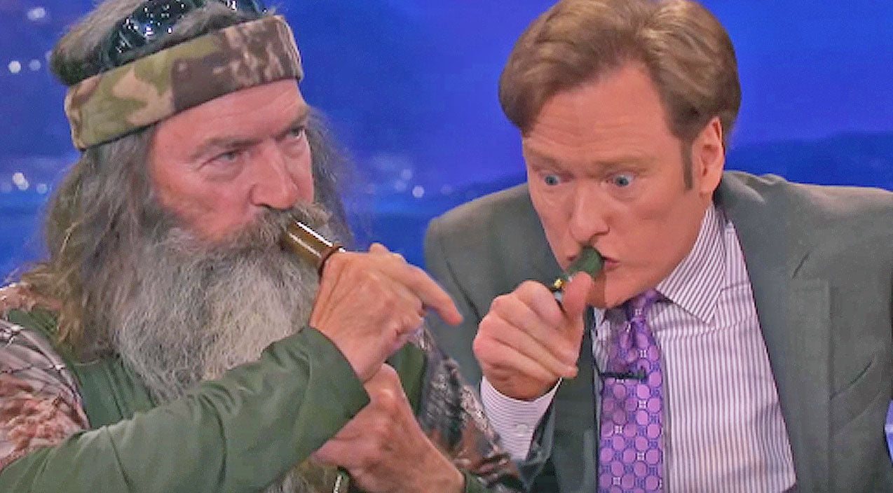 Phil robertson Songs | Conan O'Brien Attempts To Master The Art Of Duck Calling, What Happens Next Is PRICELESS! | Country Music Videos