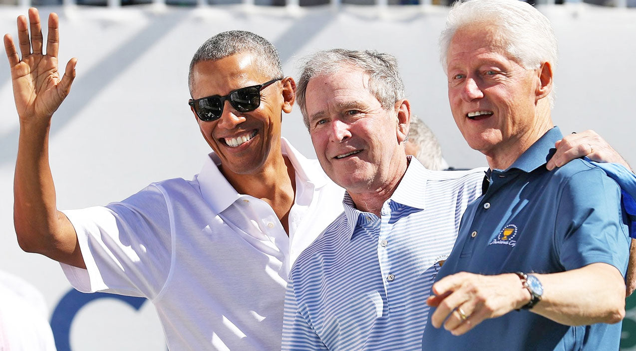 Internet Goes Crazy When Former Presidents Obama, Bush and Clinton Unite | Country Music Videos
