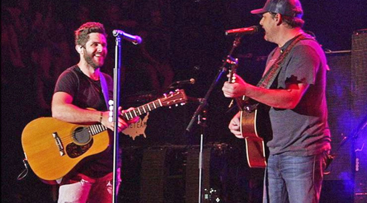 Thomas rhett Songs | Thomas Rhett Invites Father Rhett Akins Onstage For Killer Duet Of 'Parking Lot Party' | Country Music Videos
