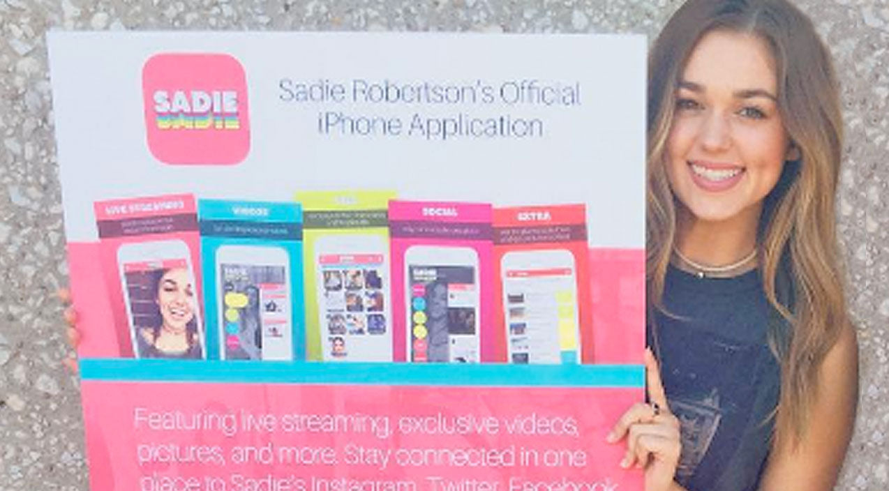 Sadie robertson Songs | Sadie Robertson Drops New iPhone App | Country Music Videos