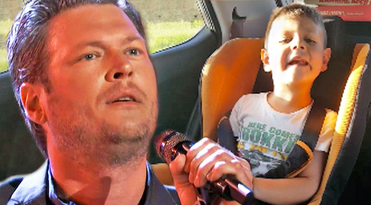 Blake shelton Songs | Little Boy Adorably Sings Blake Shelton's Gospel Song At Top Of His Lungs | Country Music Videos