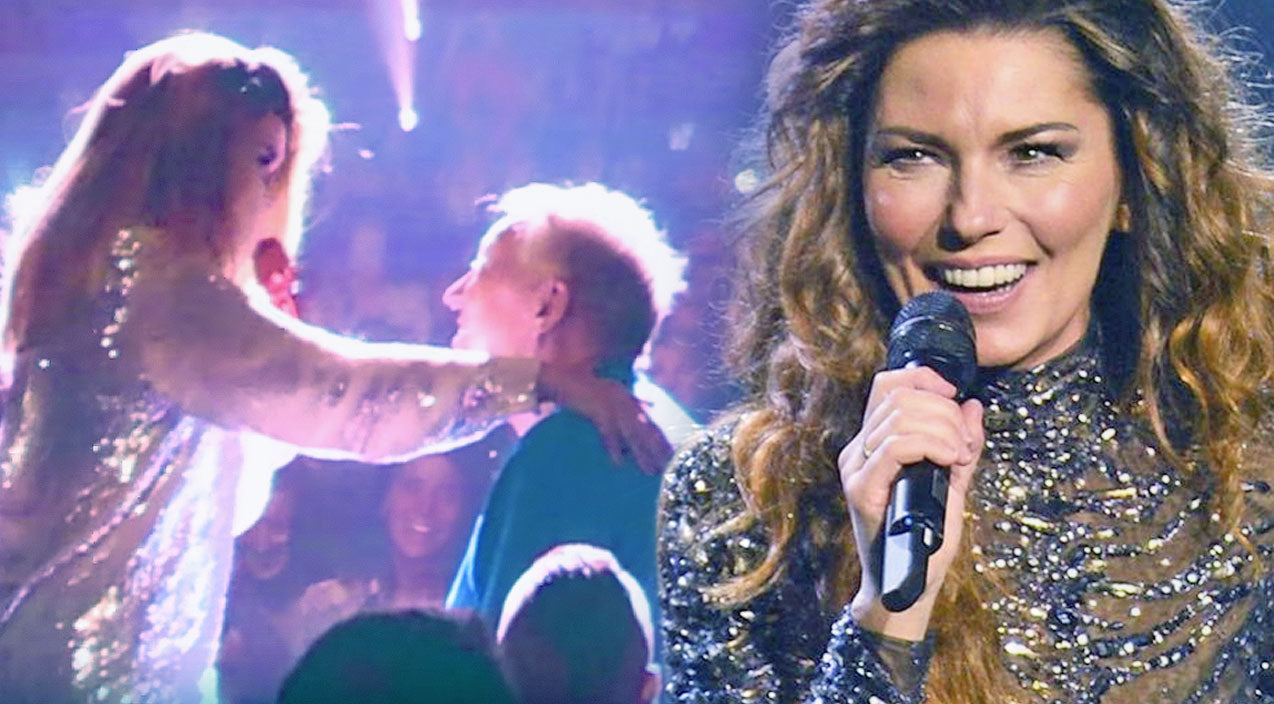Shania twain Songs | 83-Year-Old Man Receives Kiss Of A Lifetime From Shania Twain Mid-Concert | Country Music Videos
