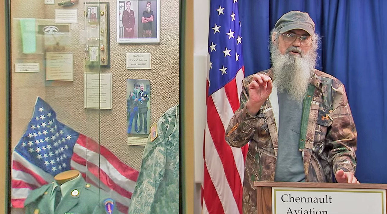 Si robertson Songs | Si Robertson Is Honored With Exhibit In Military Museum | Country Music Videos