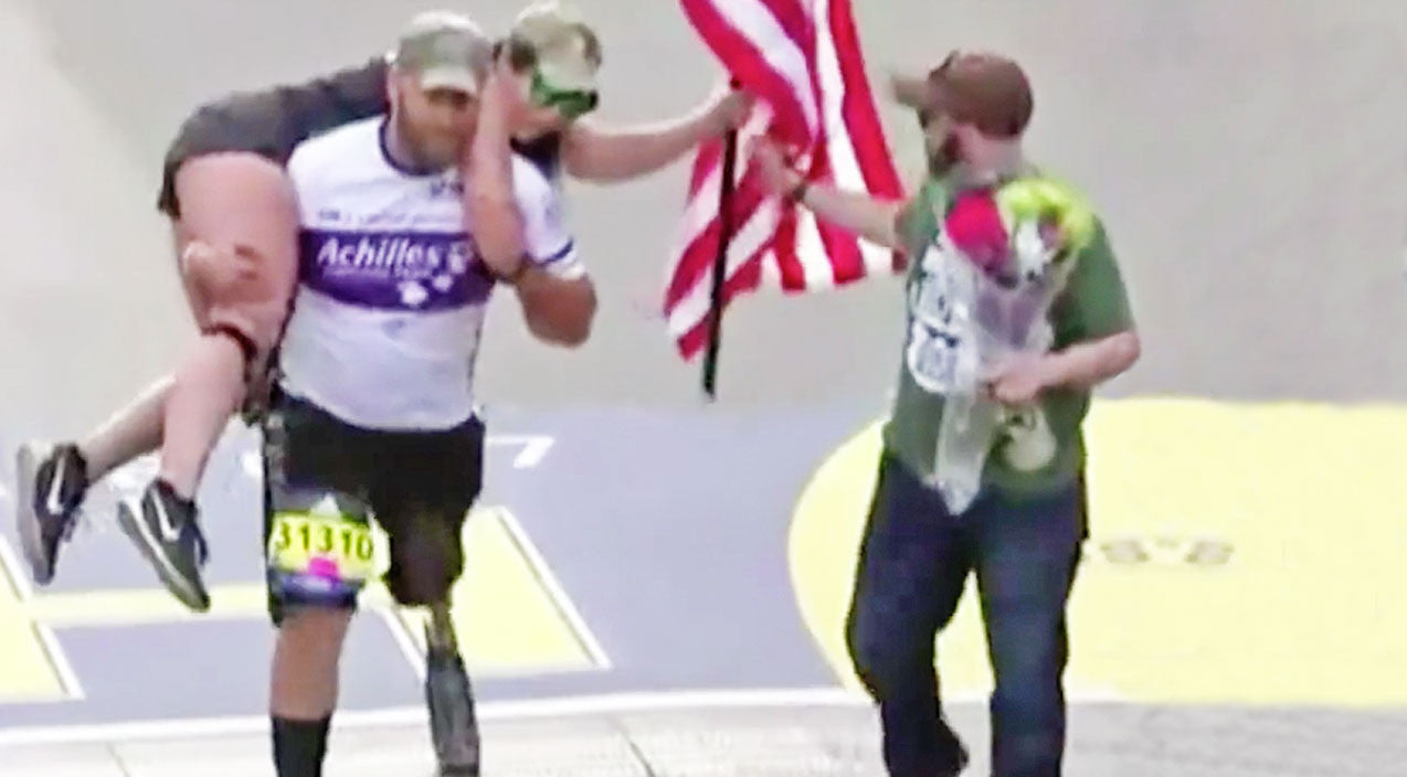 Viral content Songs | Army Veteran Who Lost His Leg In Battle Stuns When He Carries Partner Across Finish Line | Country Music Videos