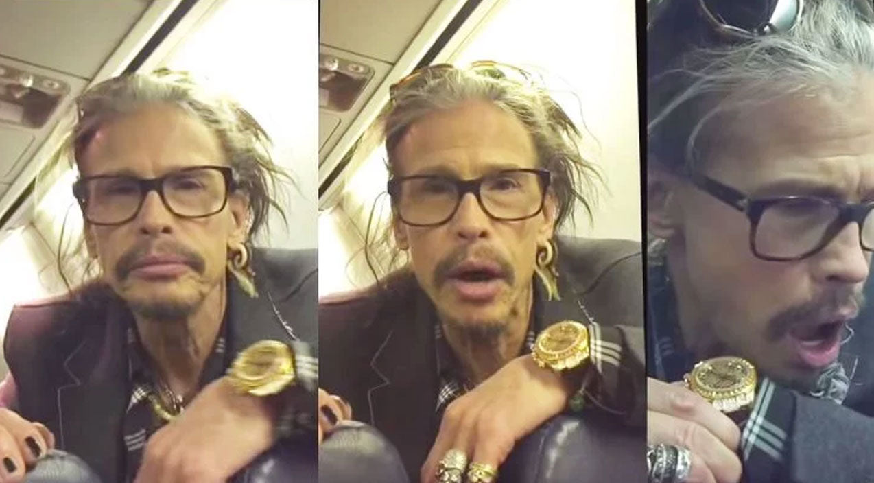 Steven tyler Songs | She Sees Steven Tyler On Same Plane, He Turns Around And His Reaction Is Priceless | Country Music Videos