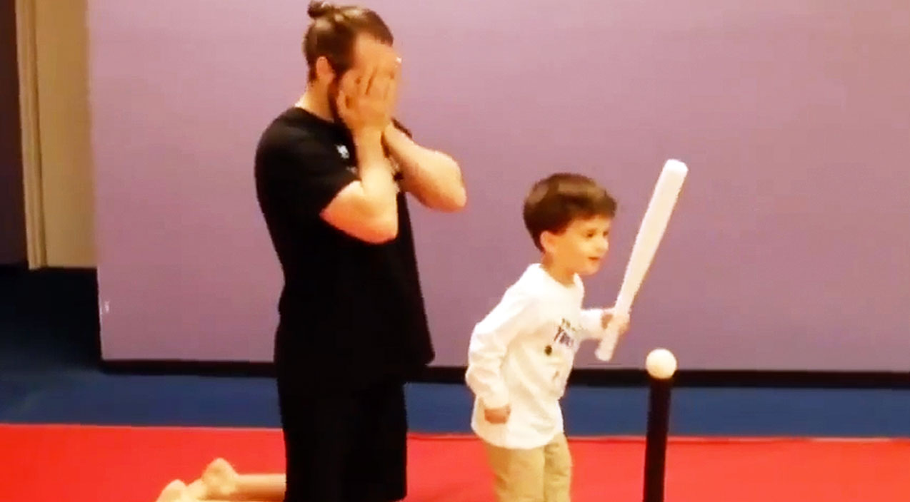 Adorable Little Boy Takes T-Ball Advice A Bit Too Literally In Hysterical Clip | Country Music Videos