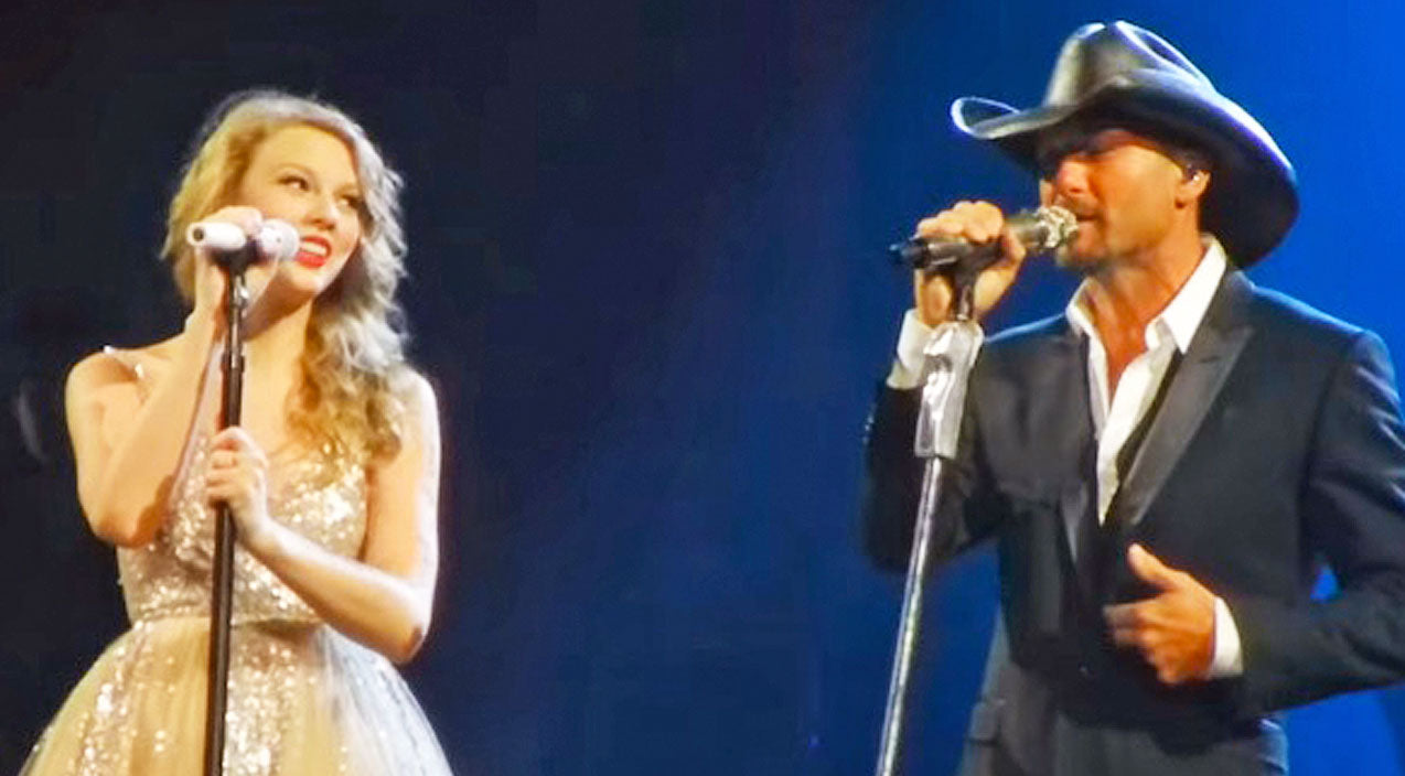 Tim mcgraw Songs | Tim McGraw & Taylor Swift Charm The Crowd With 'Just To See You Smile' | Country Music Videos