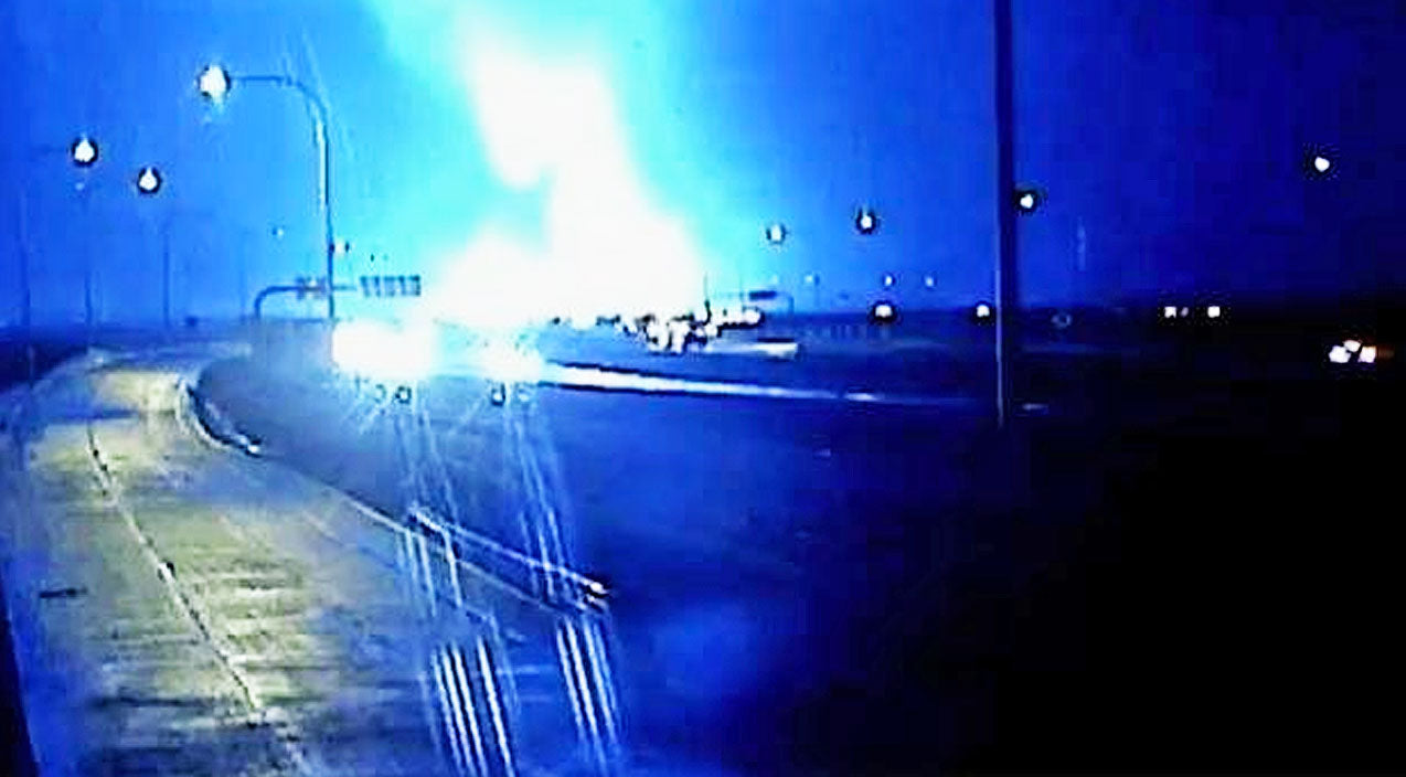 Traffic Cameras Capture Terrifying Texas Tornado Passing Over Highway | Country Music Videos