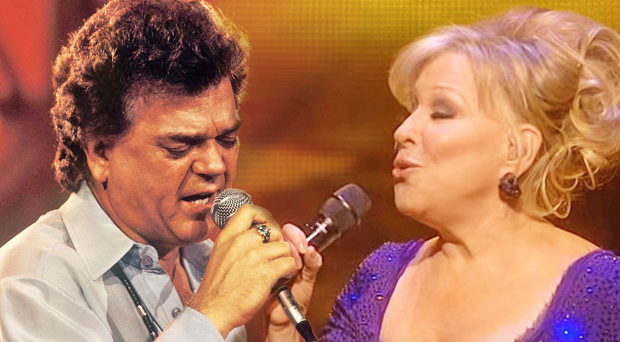 Conway twitty Songs | Conway Twitty & Bette Midler Perform 'The Rose' In Remastered Duet | Country Music Videos