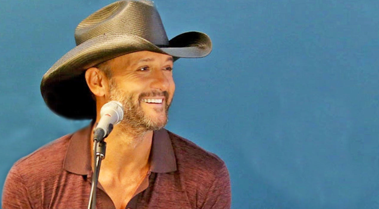 Tim mcgraw Songs | Tim McGraw Can't Stop Smiling When Blonde Bombshell Serenades Him With Song About Him | Country Music Videos