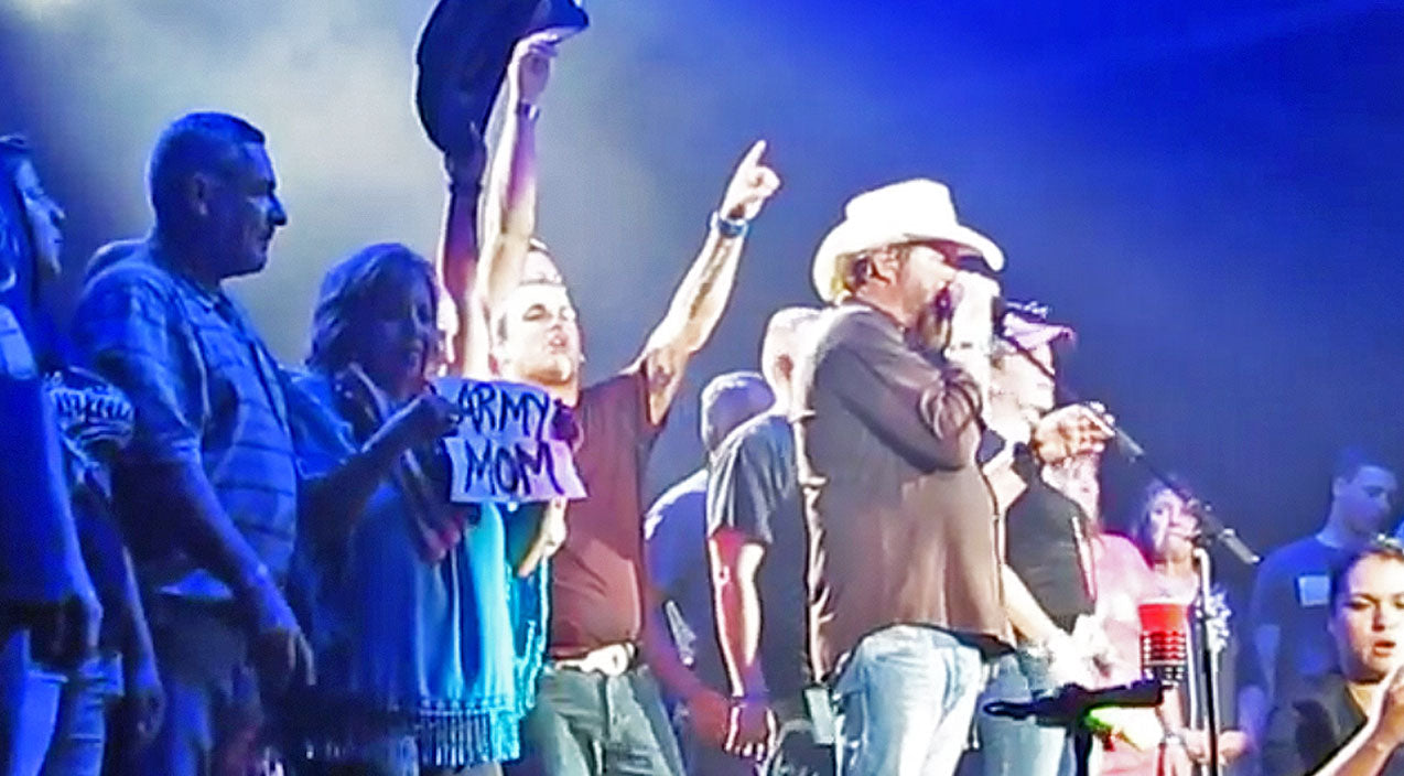 Toby keith Songs | Toby Keith Honors Military Members On Stage With Song That Embodies Freedom | Country Music Videos