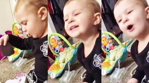 Npr Songs | Unsuspecting Toddler Caught On Camera Adorably Singing 'Jolene' | Country Music Videos