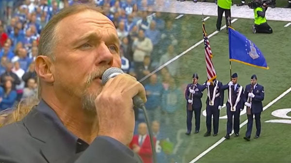 Trace adkins Songs | Trace Adkins Performs National Anthem (At Ravens vs Colts Game) (VIDEO) | Country Music Videos