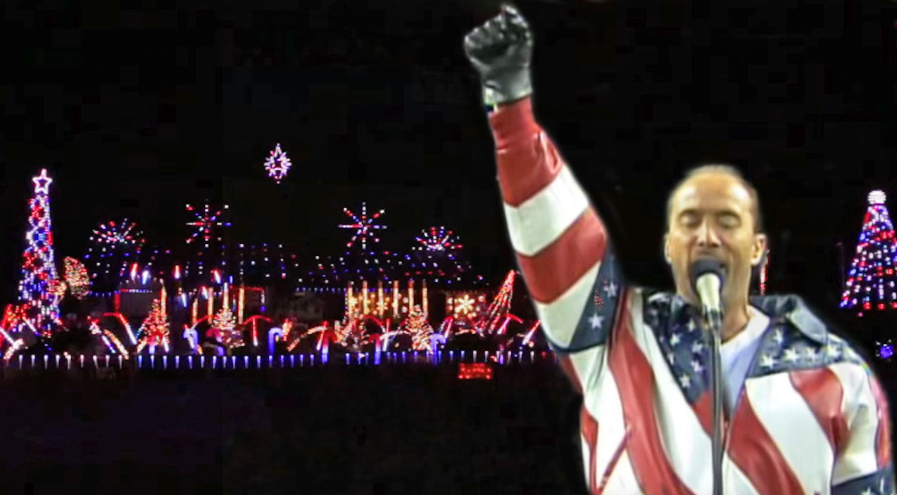 Lee greenwood Songs | Christmas Lights Synchronized To 'God Bless the USA' Is The Ultimate Tribute To Our Troops | Country Music Videos
