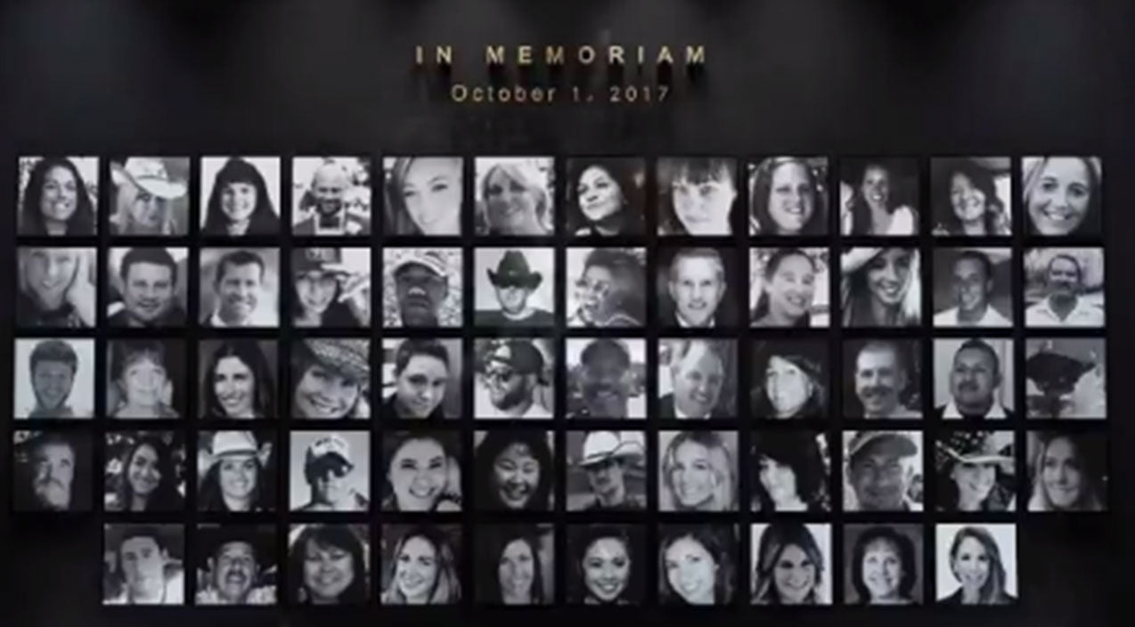 The CMA Awards' Moving Tribute To Route 91 Victims Brings Audience To Tears | Country Music Videos
