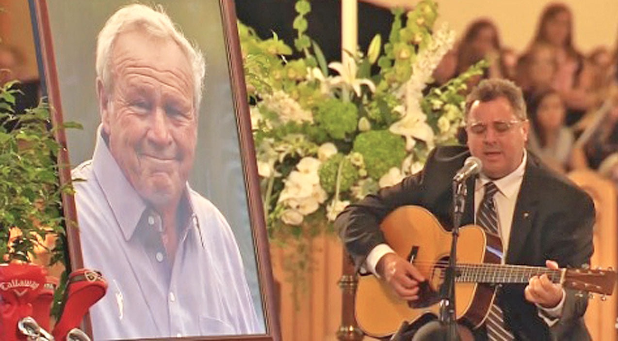 Vince gill Songs | An Emotional Vince Gill Sings 'Go Rest High On That Mountain' At Arnold Palmer's Funeral | Country Music Videos