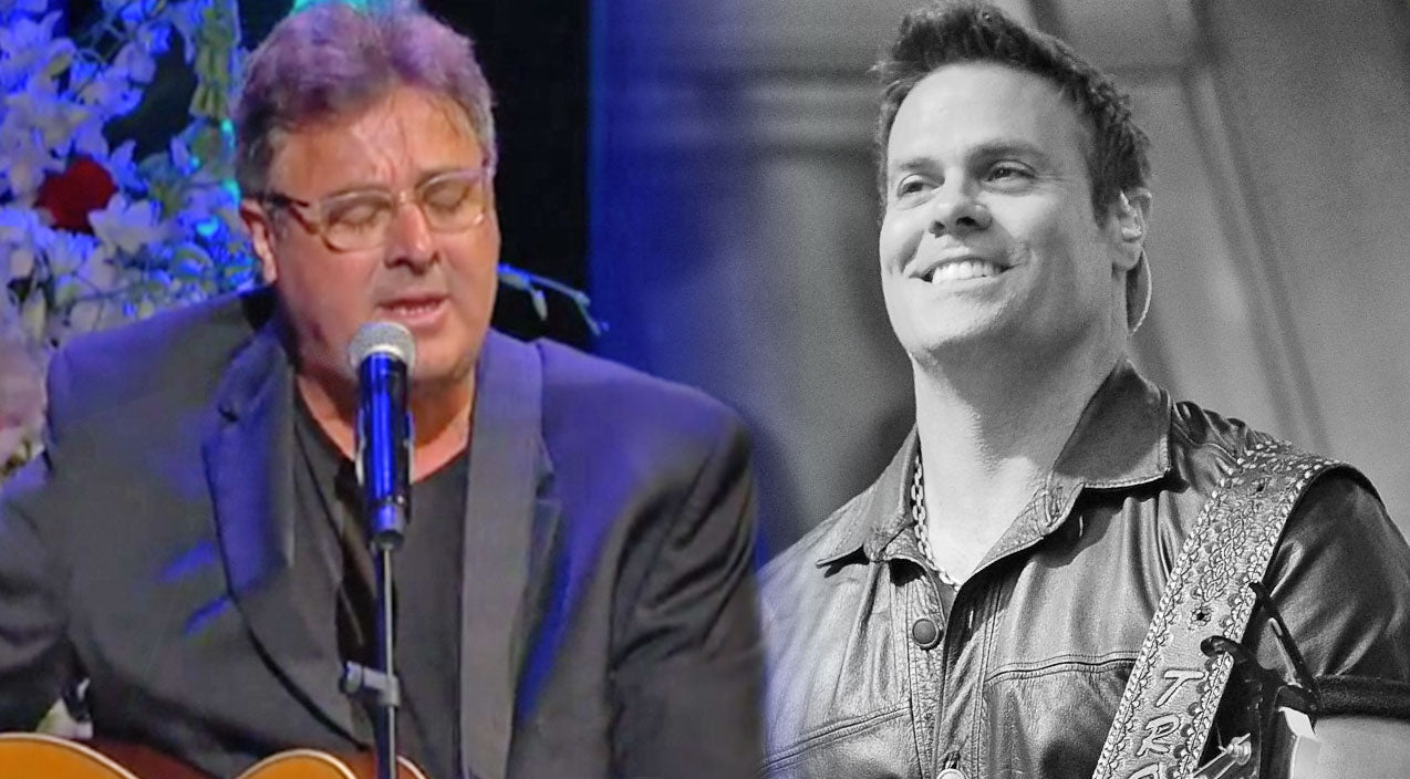Vince gill Songs | Vince Gill Chokes Up Performing The First Song Troy Gentry Ever Sang For His Wife | Country Music Videos