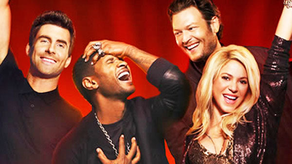 Blake shelton Songs | Blake Shelton, Usher, Shakira and Adam Levine - With a Little Help From My Friends (WATCH) | Country Music Videos