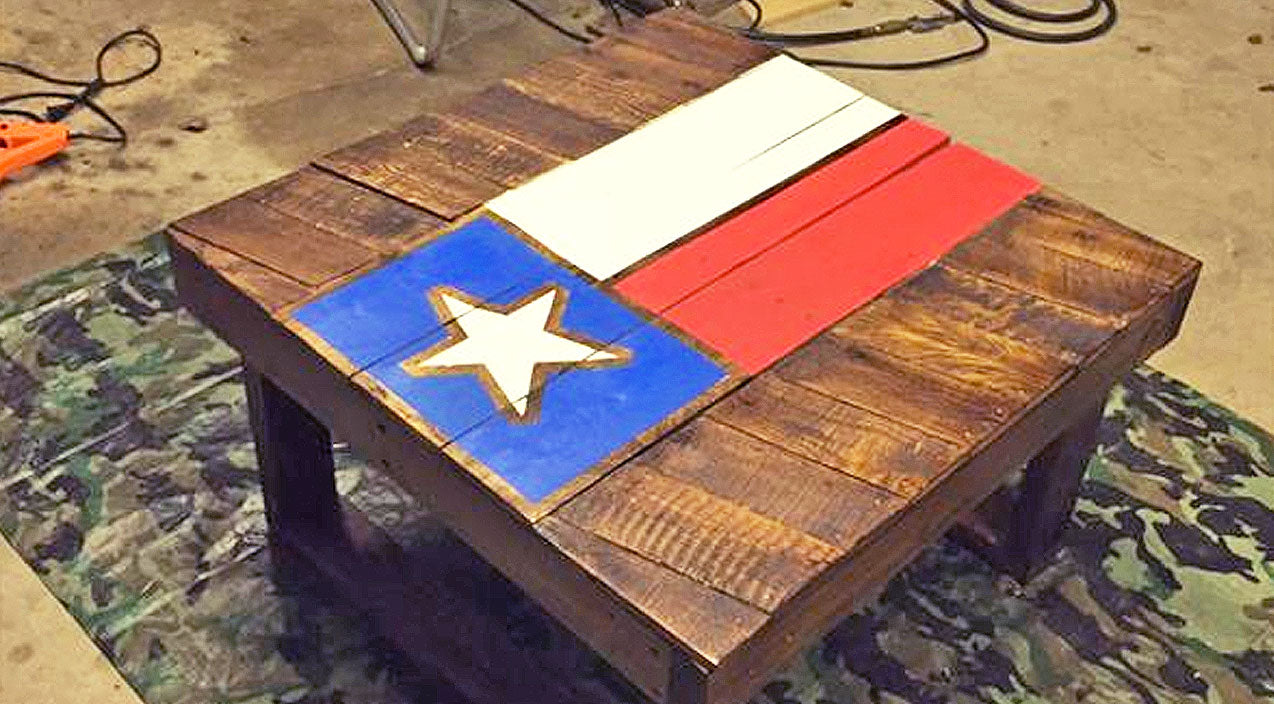 Diy Songs | DIY Texas Flag Coffee Table Made From Pallet Wood | Country Music Videos