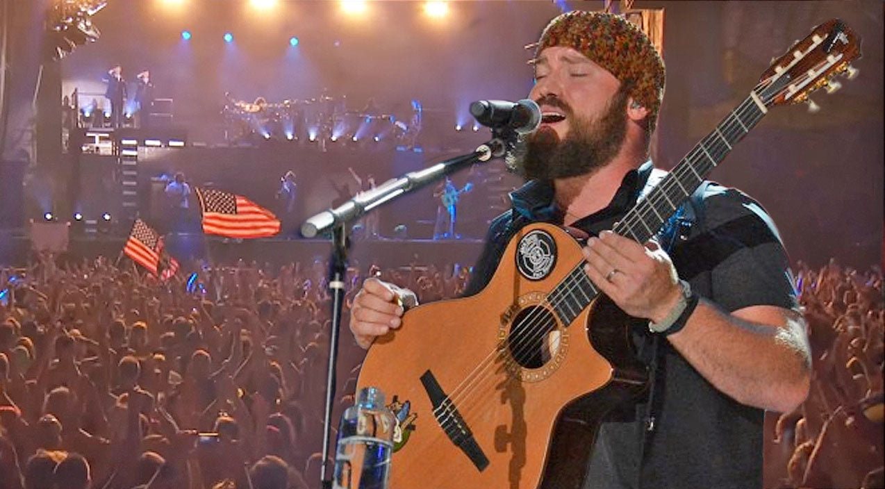 Zac brown band Songs | Zac Brown Leads Patriotic 'Chicken Fried' Sing-A-Long At Sold-Out Show | Country Music Videos