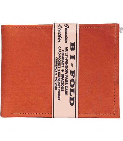 Hazelnut Leather Bi-Fold Wallet