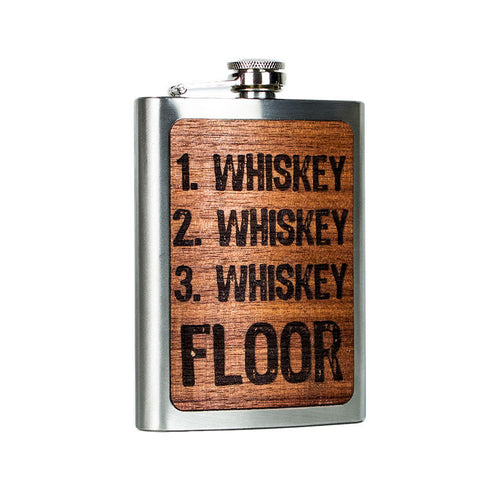 Three Whiskey Floor Flask