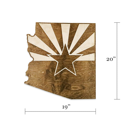 Arizona State Flag Two-Tone Wood Wall Art