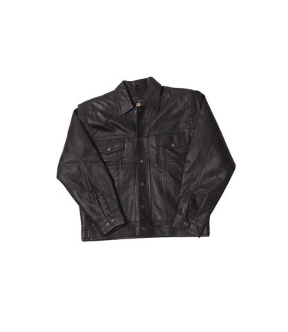 Black Leather Jacket Black Stitch