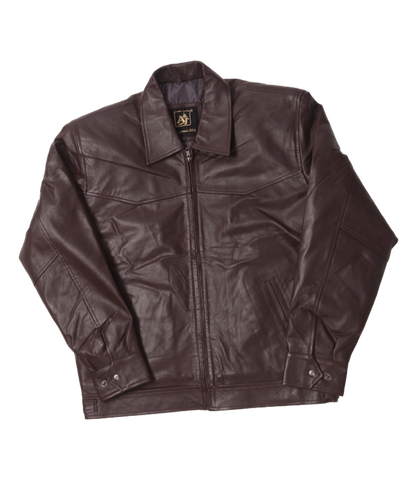 Brown Leather Short Jacket