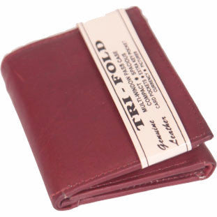 Chestnut Leather Tri-Fold Wallet