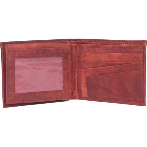 Cognac Leather Bi-Fold Wallet