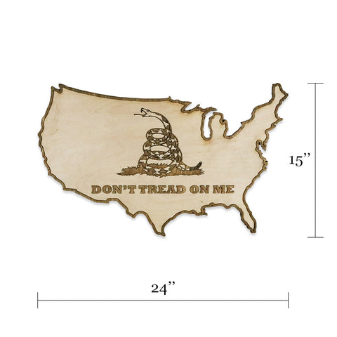 Don't Tread On Me Two-Tone Wood Wall Art