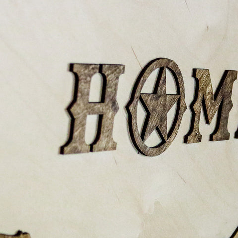 Texas Home Two-Tone Wood Wall Art
