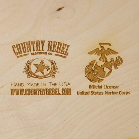 USMC - California - American Flag Wood Art