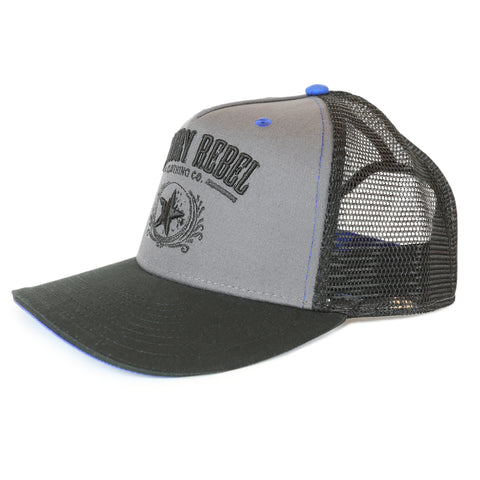 Country Rebel Snapback Grey/Black - Black Logo