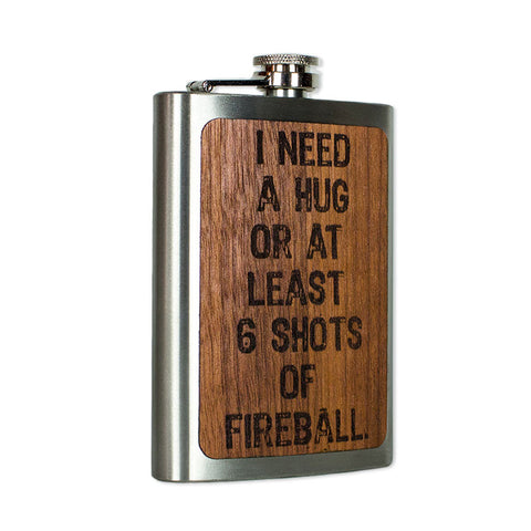 Hugs or Shots Flask