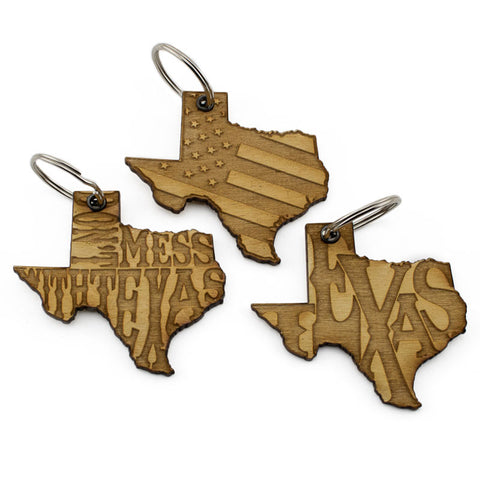 Don't Mess With Texas Keychain 3 Pack